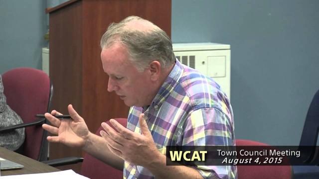 Winthrop Town Council, August 4, 2015