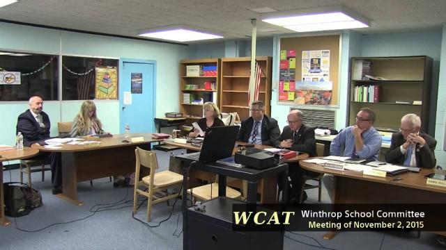 Winthrop School Committee Meeting of November 2, 2015