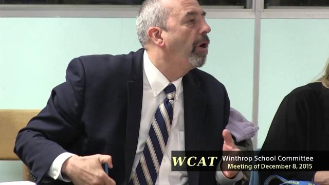 Winthrop School Committee Meeting of December 7, 2015