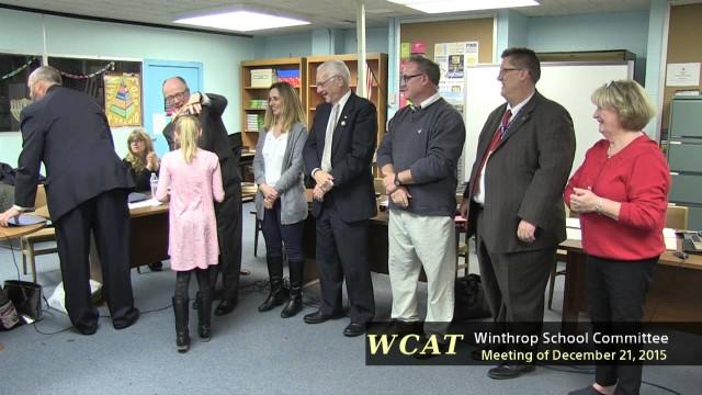 Winthrop School Committee Meeting December 21, 2015
