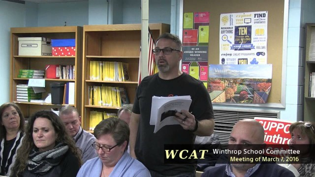 School Committee Meeting Of March 7th, 2016