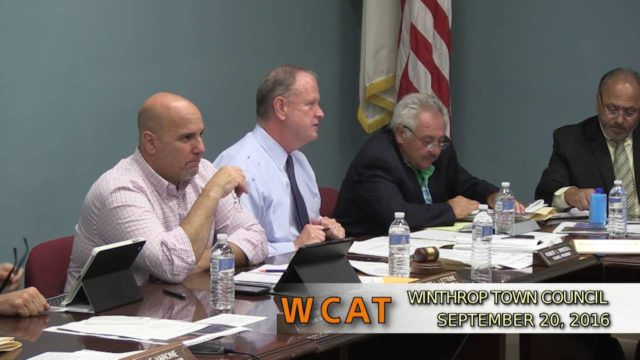 Winthrop Town Council Meeting of September 20, 2016