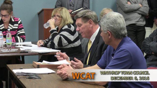 Winthrop Town Council Meeting of December 6, 2016