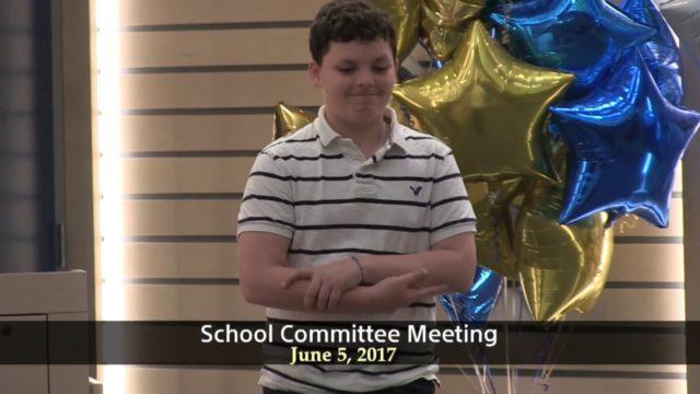 Winthrop School Committee Meeting of June 5, 2017