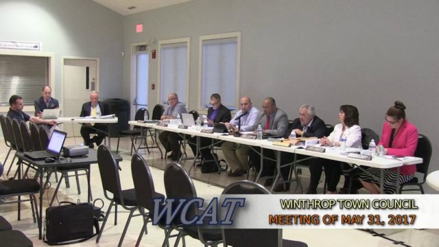 Winthrop Town Council Meeting of May 31, 2017