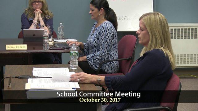 Winthrop School Committee, October 30, 2017