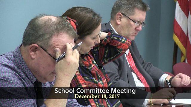 School Committee December 18, 2017