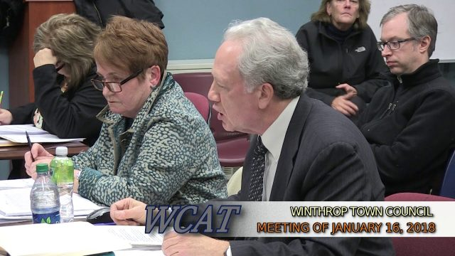 Winthrop Town Council Meeting of January 16, 2018