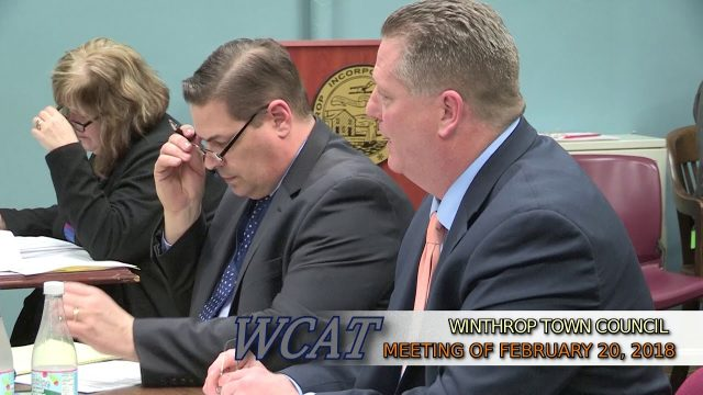 Winthrop Town Council Meeting of February 20, 2018