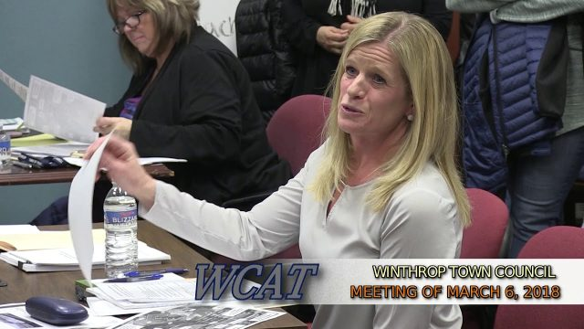 Winthrop Town Council Meeting of March 6, 2018