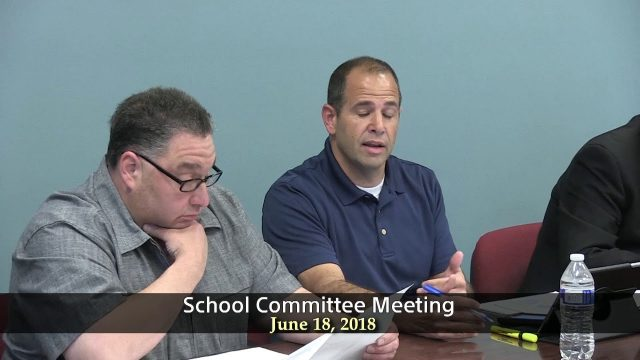 Winthrop School Committee Meeting of June 18, 2018