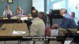 Winthrop School Committee Meeting of August 20, 2018