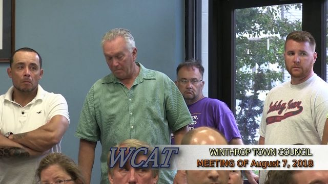 Winthrop Town Council Meeting of August 7, 2018