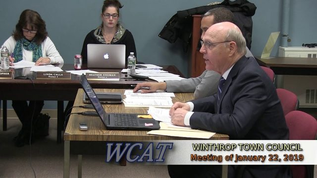 Winthrop Town Council Meeting of January 22, 2019