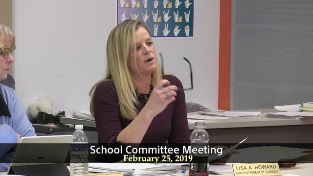 School Committee Meeting of February 25, 2019