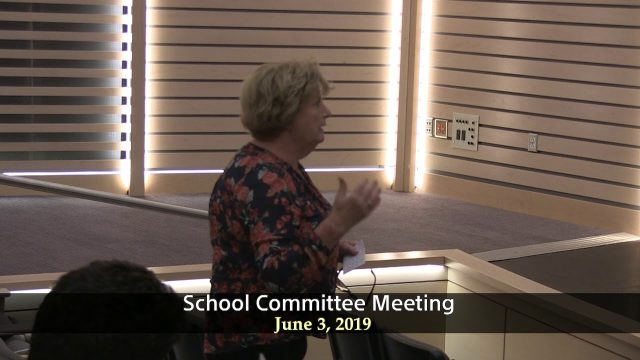 Winthrop School Committee Meeting of June 3, 2019